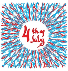 independence day greeting vector image