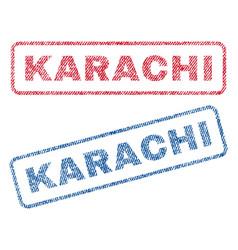 Karachi textile stamps vector