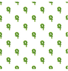 Letter q made of green slime vector