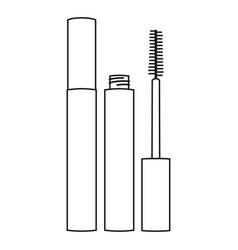 line art black and white mascara vector image