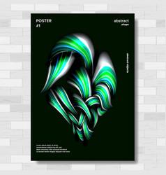liquid brush poster vibrant gradients vector image
