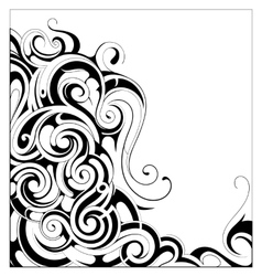 Liquid ornament with copy space area vector image
