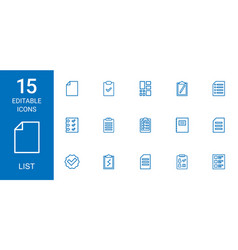 list icons vector image