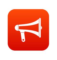 loudspeaker icon digital red vector image