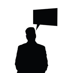 man black silhouette vector image