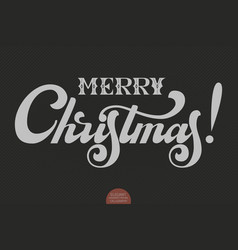 Merry christmas text calligraphic vector