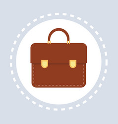 office bag briefcase icon business concept flat vector image