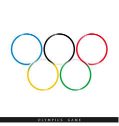 Olympic rings icon vector