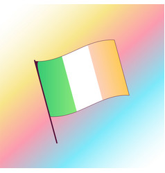 patricks day gradient color irish flag vector image