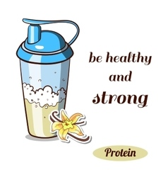 Protein Shaker Vanilla vector