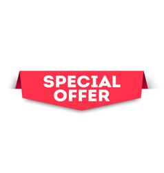 red banner special offer web element vector image