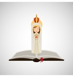 religion catolic virgin mary immaculate haert vector image