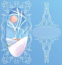 Rich decorated elegant ornament background peek vector