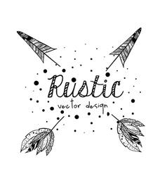 Rustic style design vector