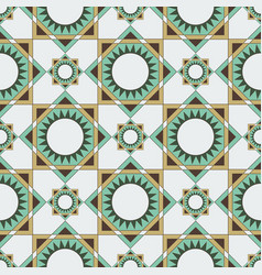 Seamless pattern of circles triangles and squares vector