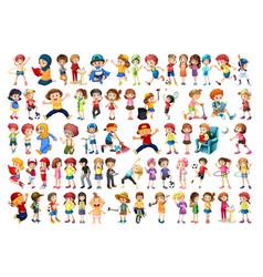 set chikdren character vector image
