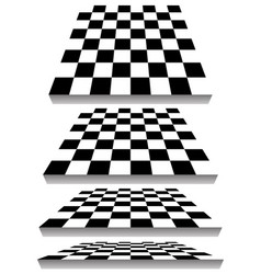 Set of chessboard checkered board shapes in vector