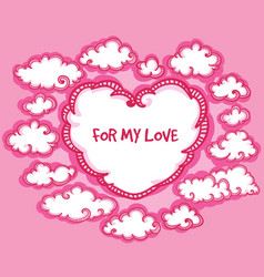 sketch happy valentines romantic template vector image
