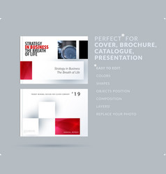 Square design presentation template with colourful vector