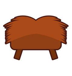 Straw cradle isolated icon vector