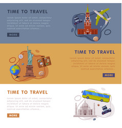 travel or tourism website landing page with city vector image