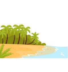 tropical landscape with ocean shore sandy beach vector image