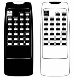 TV remote controls vector image