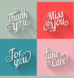 typography design for card in flat style vector image