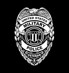 us military police veteran badge vector image
