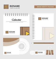 video logo calendar template cd cover diary and vector image