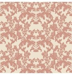 Vintage Baroque damask pattern vector image