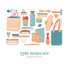 Zero waste objects for women in square shape vector