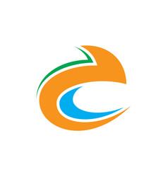abstract swirl arrow logo vector image