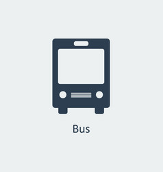 bus icon silhouette icon vector image