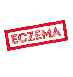 Eczema rubber stamp vector image