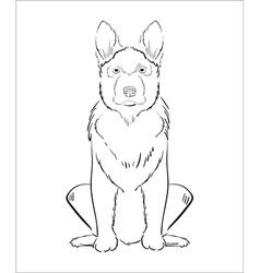 Hand drawn dog vector