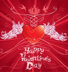 heart wings vector image vector image