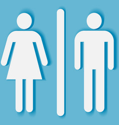 Man and woman bathroom symbol vector image vector image