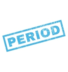Period rubber stamp vector