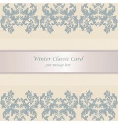 Baroque Winter Invitation card vector image vector image