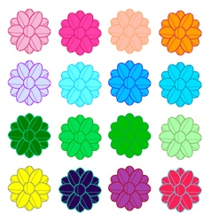 Colorful flowers line vector image