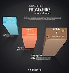infographics minimal 4 vector image vector image