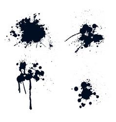 Ink splatters vector image vector image
