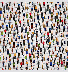 large group of people seamless background vector image