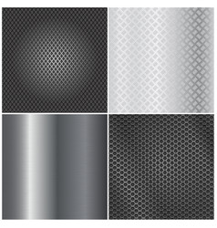 metal background collection brushed steel vector image
