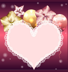 template for valentines day card vector image vector image