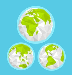 The Earth with abstract World map Infographic vector image vector image