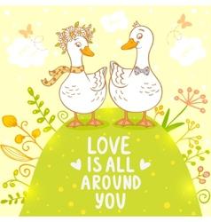 ducks cute vector image