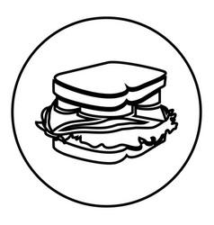 figure emblem sticker sandwich icon vector image