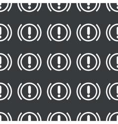 Straight black alert sign pattern vector image vector image